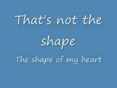 sting – shape of my heart lyrics