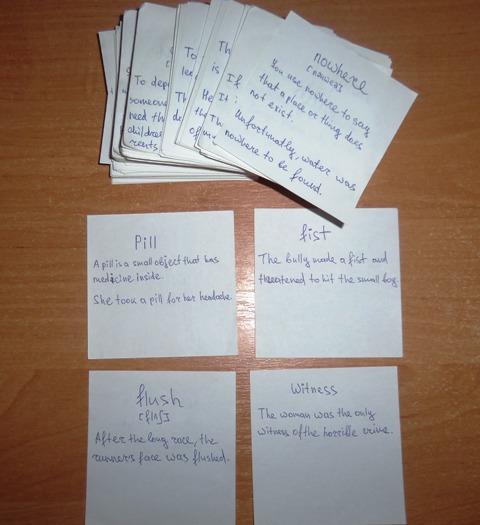 карточки слов на английском