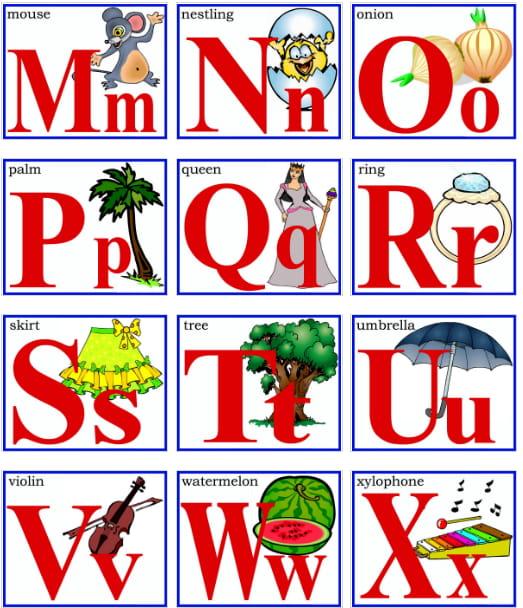 Карточки английского алфавита