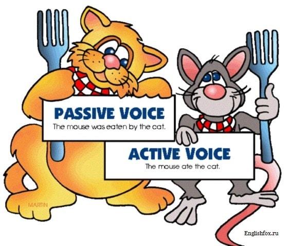 Активный и пассивный залог в английском языке