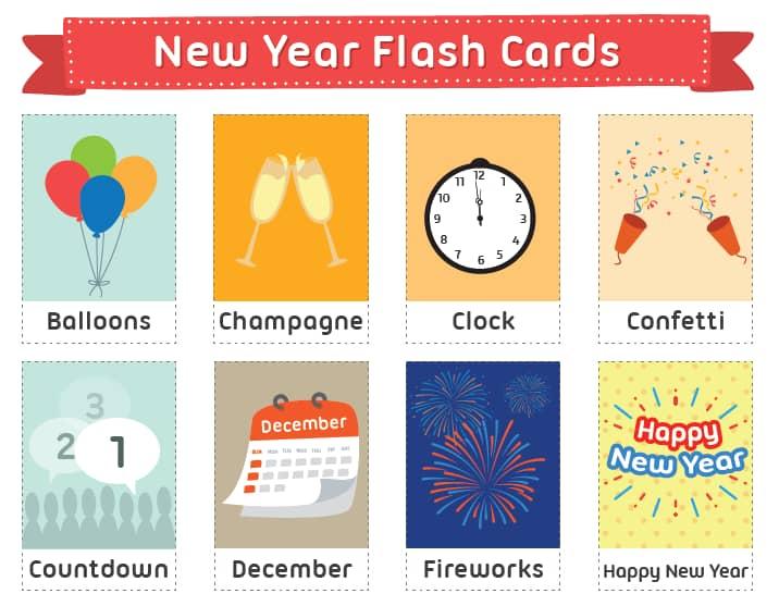 новогодние флеш-карты