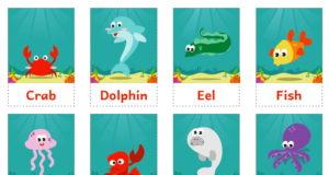 Карточки для изучения английского языка | Животные