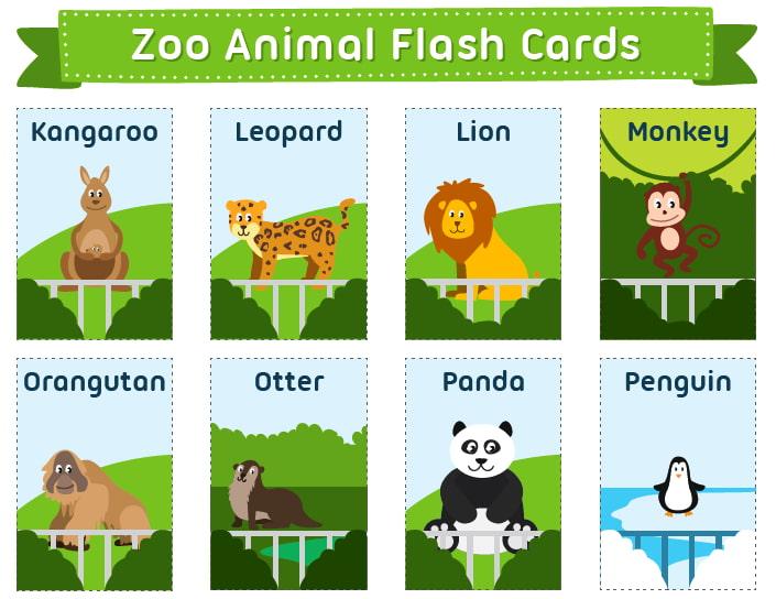 Карточки для изучения английского языка Животные