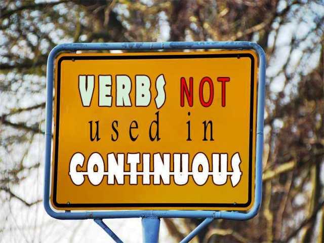 Список глаголов которые не употребляются в continuous