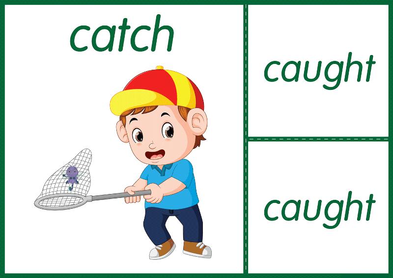 Три формы глагола catch