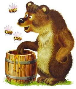 The bear wants some honey