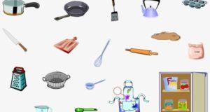 Кухонные принадлежности на английском