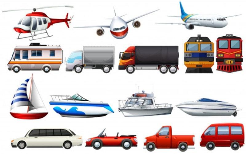 Основные виды транспорта