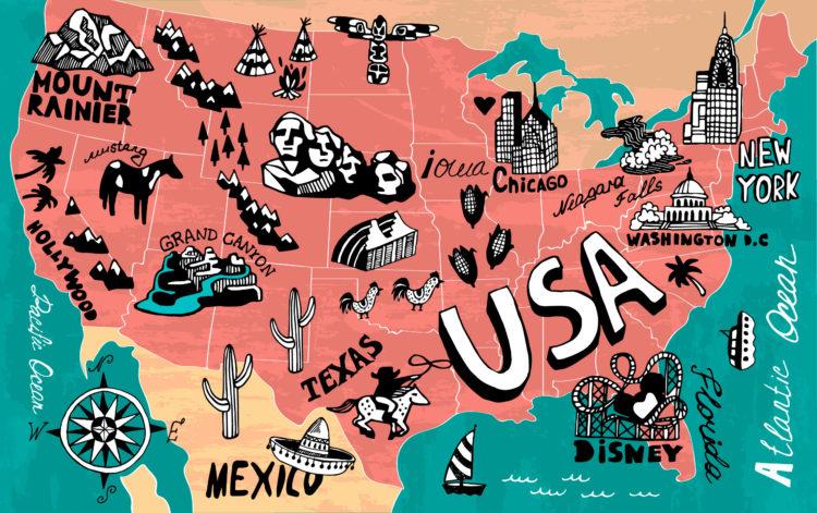 Достопримечательности США на английском языке