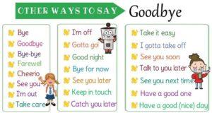 Прощание на английском языке