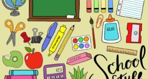 Школьные принадлежности на английском