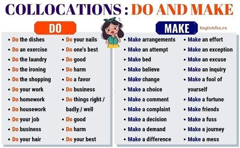 Do или Make - разница в употреблении