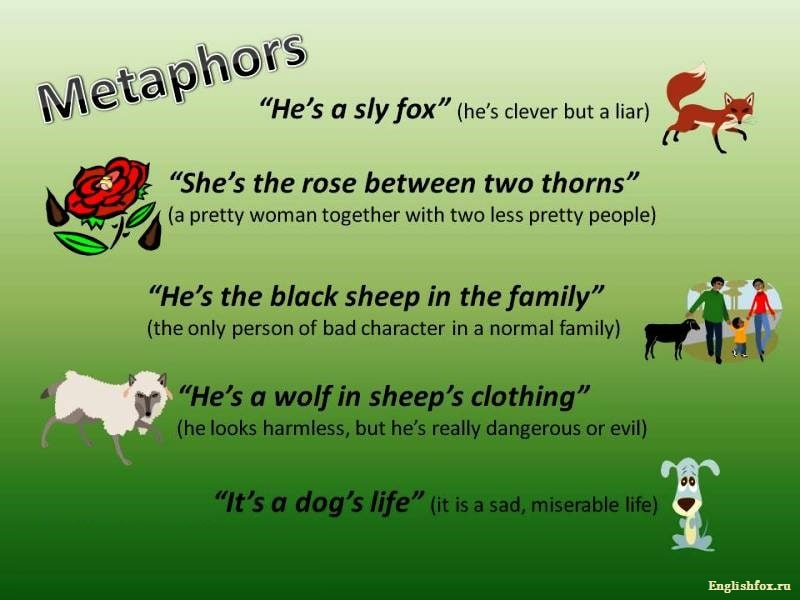 Metaphors in English