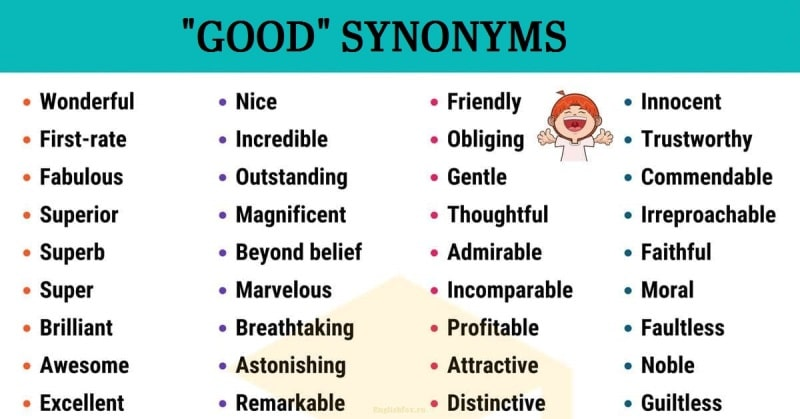 синонимы слова good